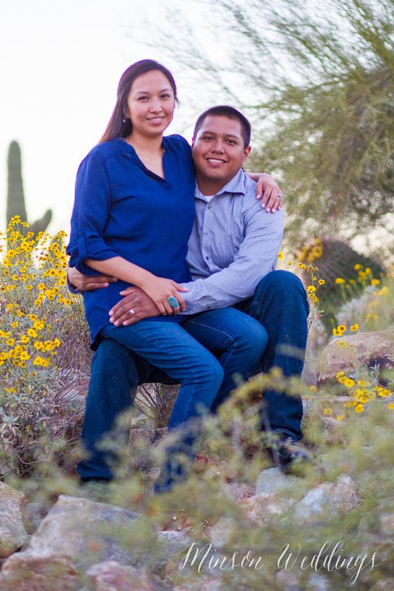 Desert Cactus Gilbert Arizona Brian Minson Canon 1D Mark IV Kamellia & David's engagement session