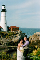 Cape Elizabeth lighthouse Maine wedding beach