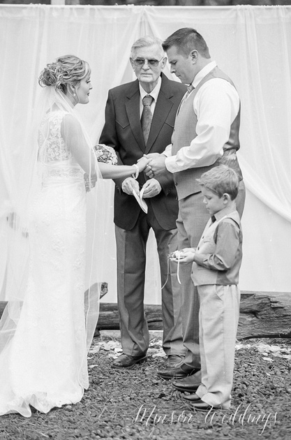 Greer Film Kodak Black and White Wedding Brian Minson
