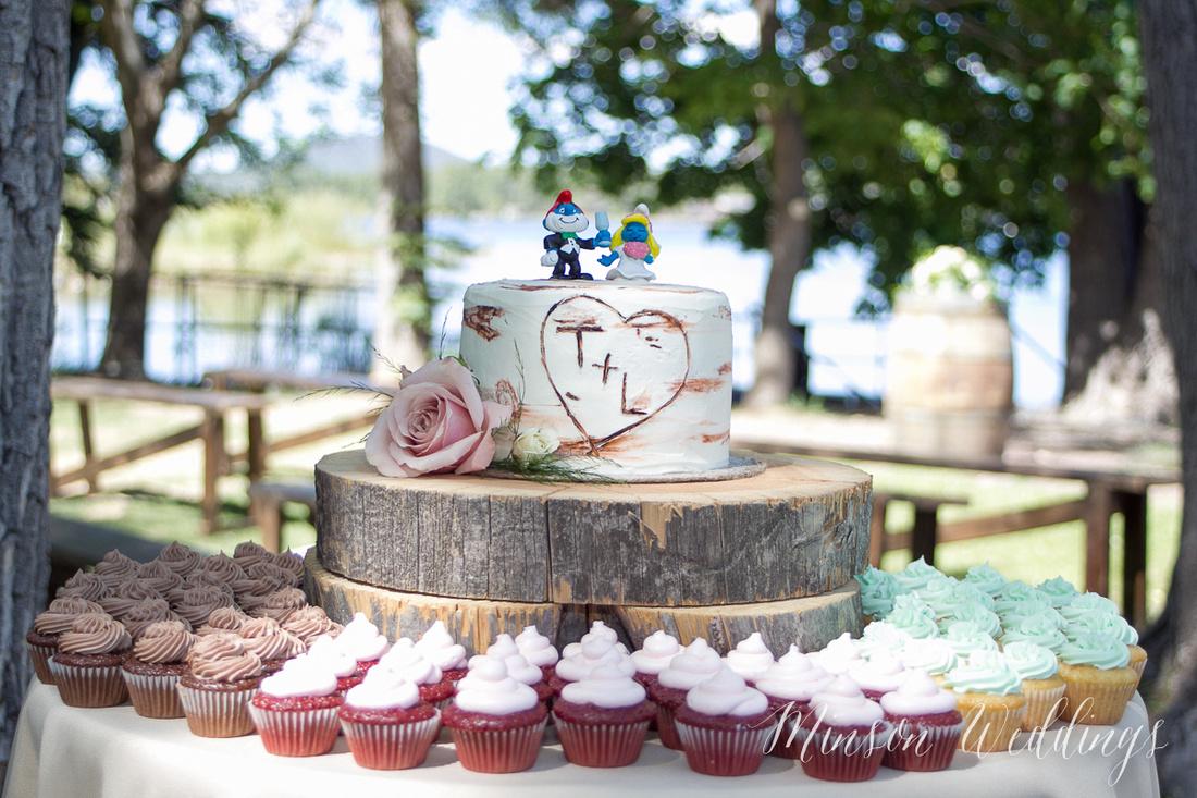 Modern rustic outdoor forrest mountian lake wedding arizona lasy oak resort brian minson photography