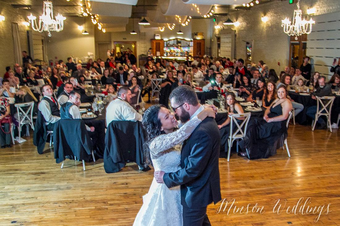Aszia and Christian Billings Montana Old Train Station Depot Winter Wedding Brian Minson PHotography
