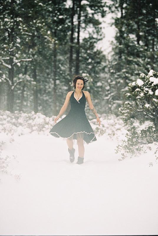 Snow Wedding Bride Kodak Pentax 645n Canon Portra Ektar MinsonWe