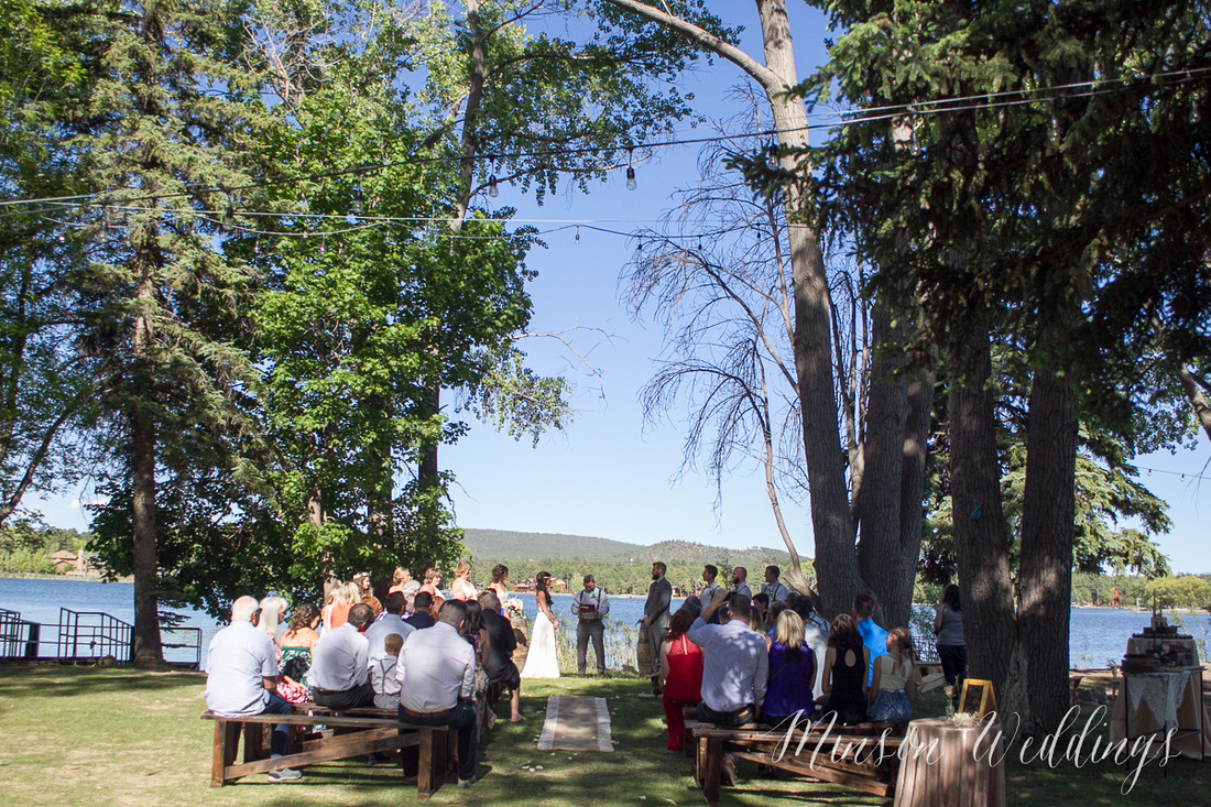 Modern rustic outdoor forrest mountian lake wedding arizona lasy oak resort brian minson photography