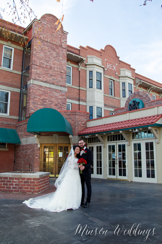 Aszia and Christian Billings Montana Old Train Station Depot Winter Wedding Brian Minson PHotography