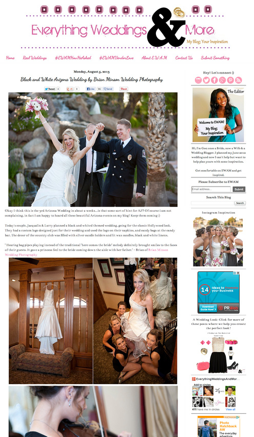 Val Vista Lakes Wedding Photographer Brian Minson Award Winning Film